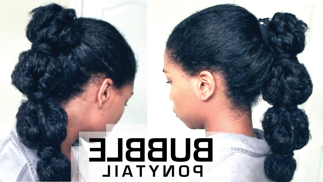 How To – Naptural85 For Fashionable High Bubble Ponytail Hairstyles (View 9 of 20)