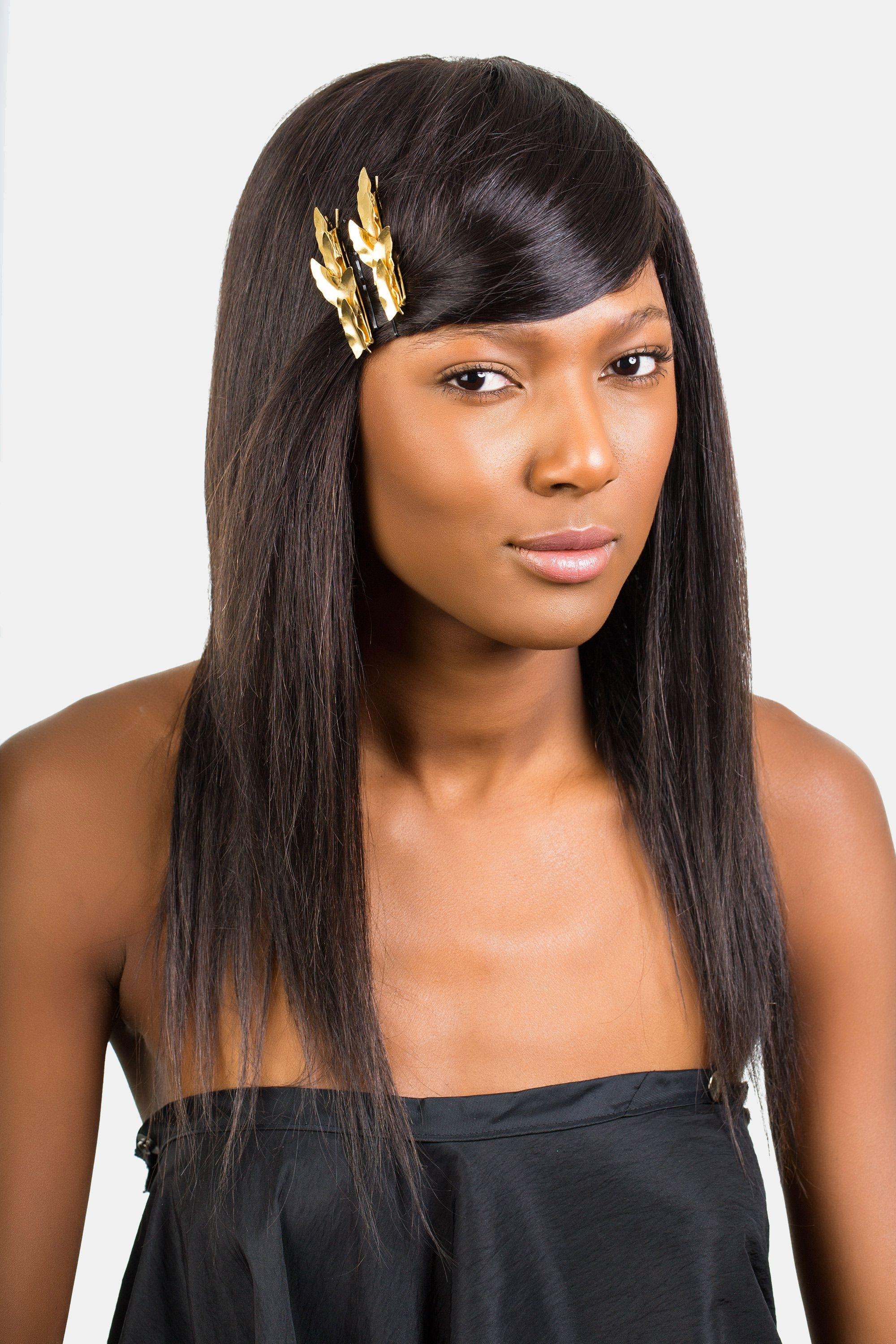 How To Style Bangs – 5 Hairstyles To Keep Your Bangs Out Of Your Face With Most Current Low Black Ponytail Hairstyles With Bangs (View 20 of 20)