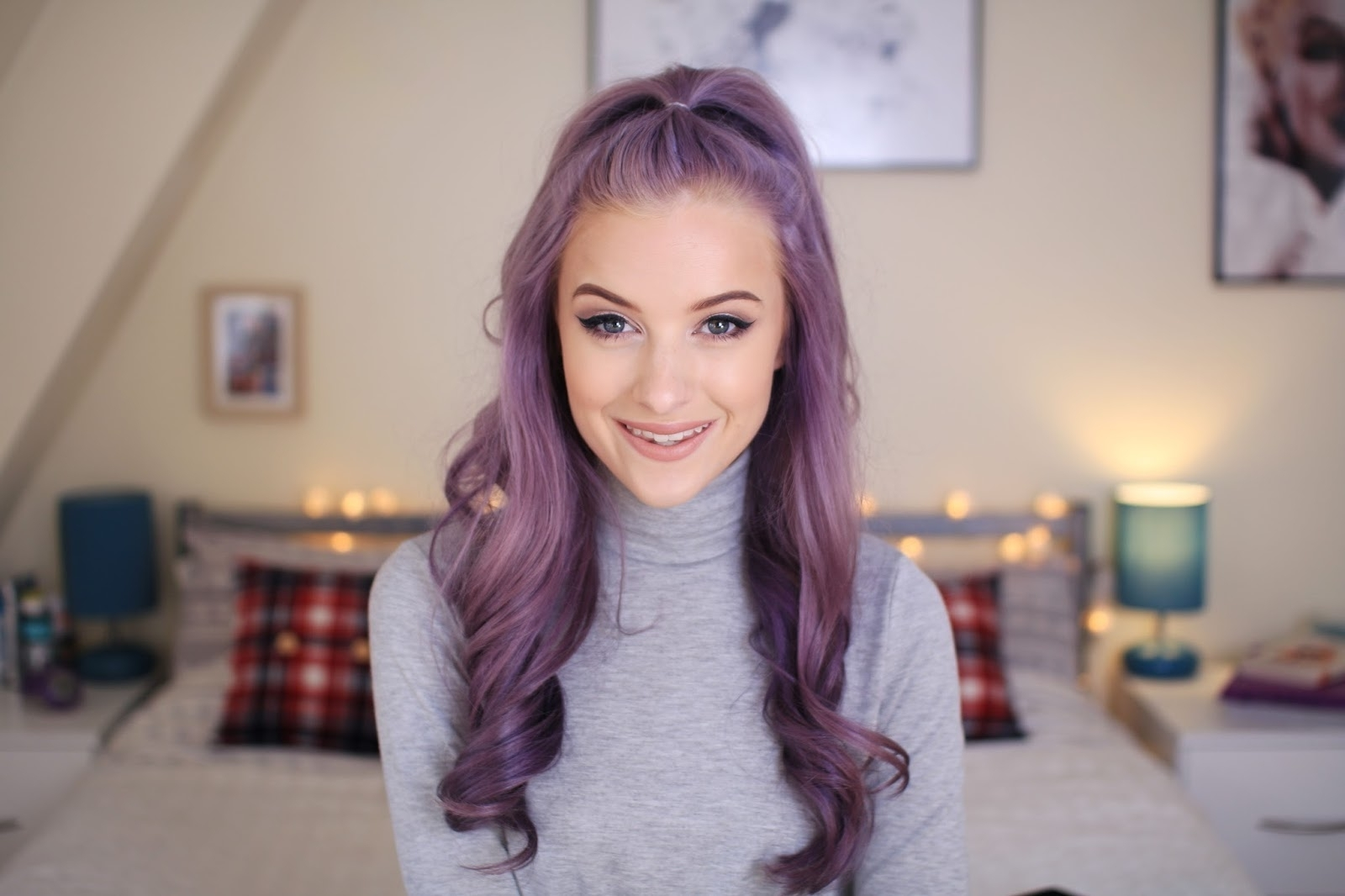 How To Style Curly Hair Four Ways – Inthefrow Throughout Newest Half Up Curly Do Ponytail Hairstyles (View 11 of 20)