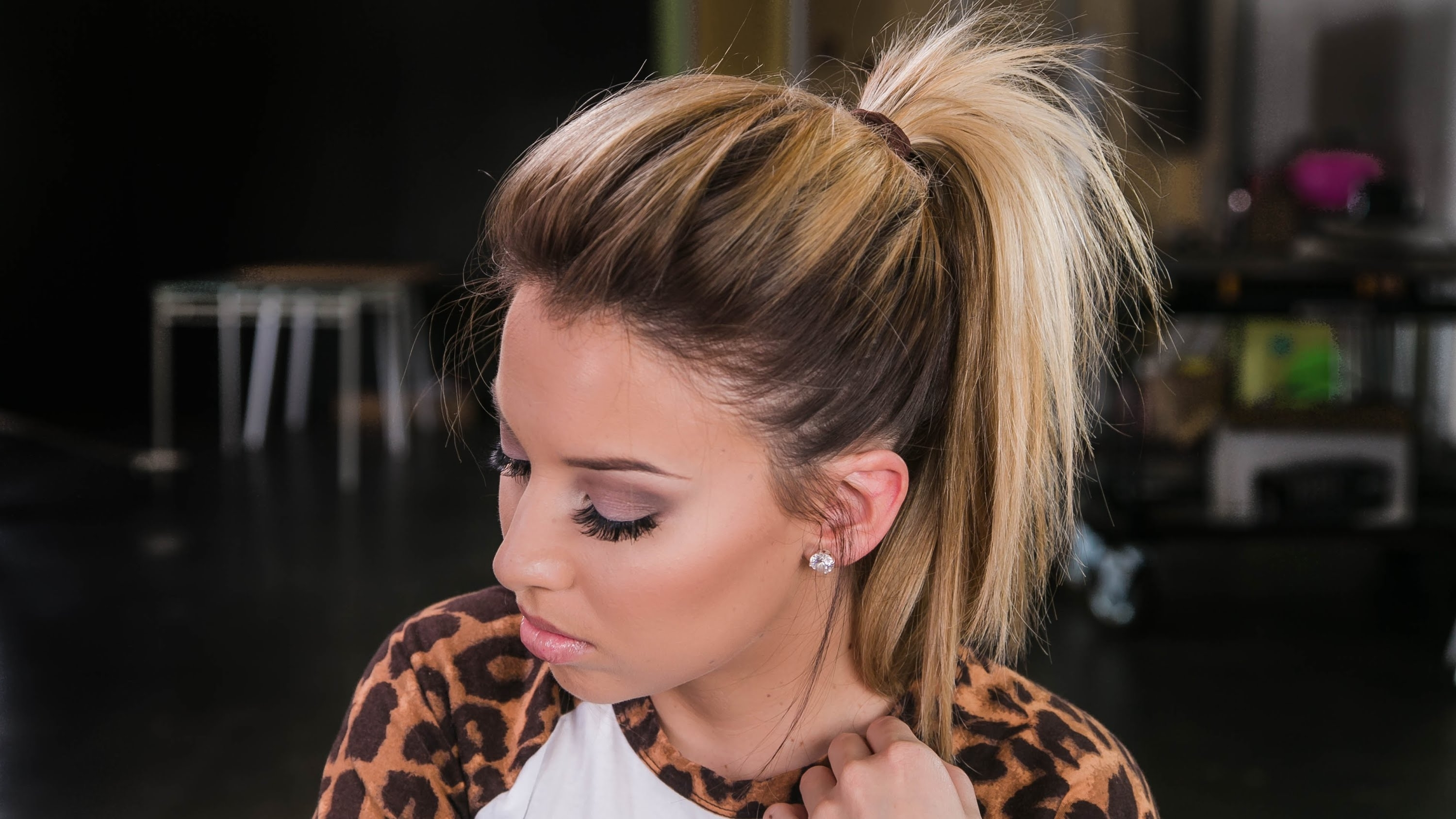 How To: The Perfect Ponytail! – Youtube Within Famous Pumped Up Messy Ponytail Hairstyles (View 9 of 20)