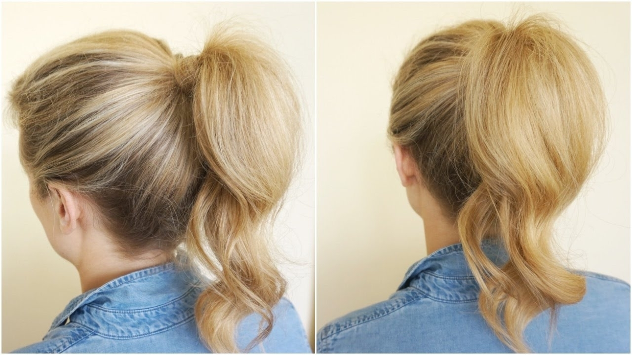 How To Wrap Hair Around Ponytail – Youtube Pertaining To Recent Wrapped Up Ponytail Hairstyles (View 2 of 20)