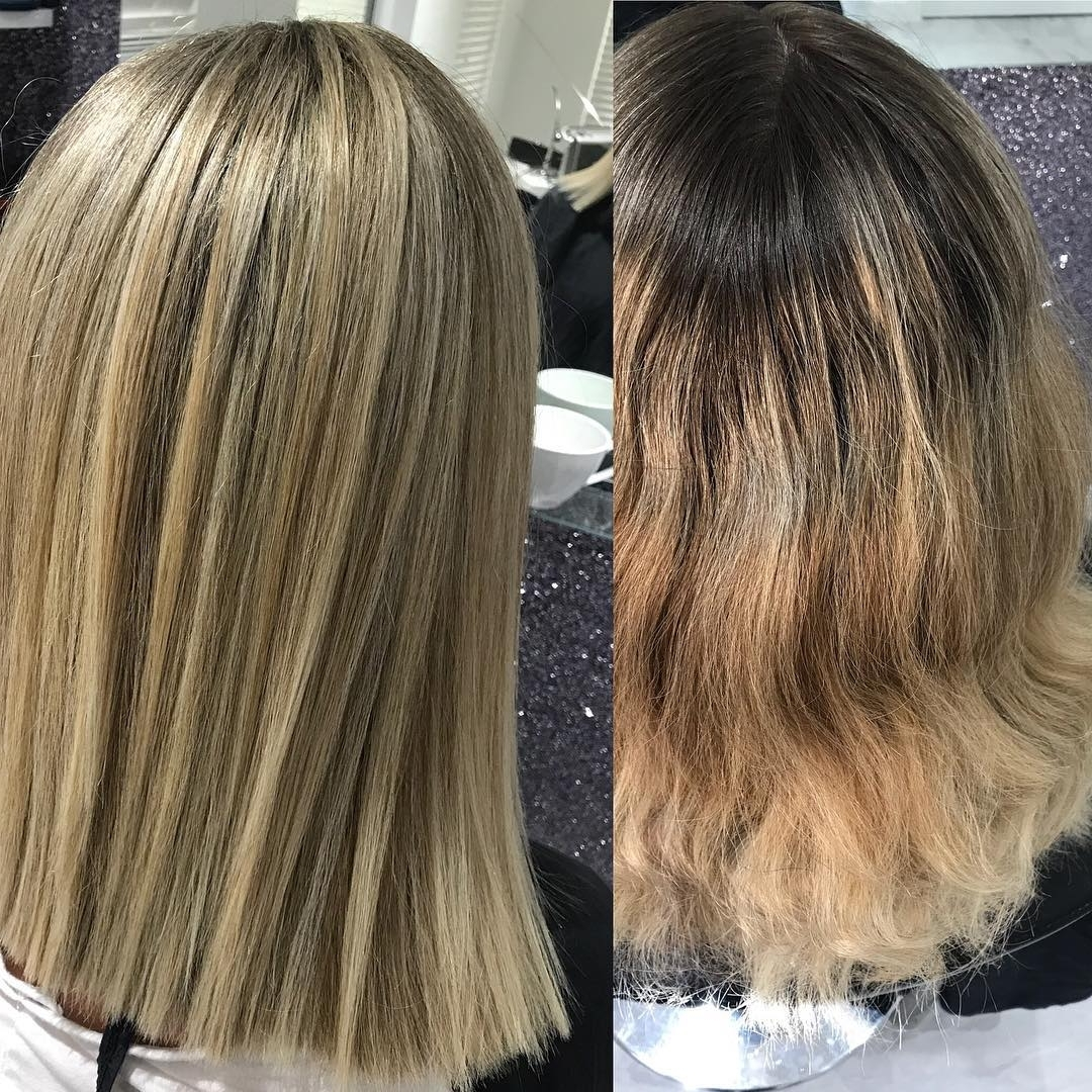 Hughlights – Hash Tags – Deskgram With Regard To 2017 Grayscale Ombre Blonde Hairstyles (View 10 of 20)