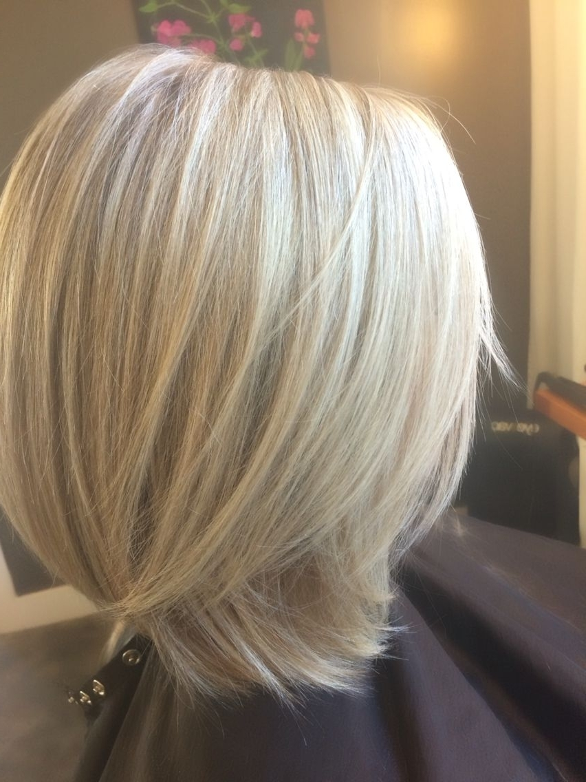Icy Blonde Lob. Long Bob. Hairbeth (View 8 of 20)