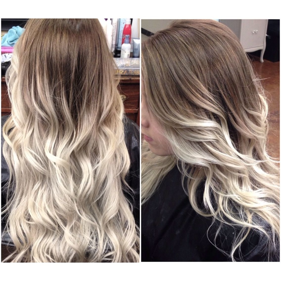 Icy Blonde Ombre! #icyblonde #ashblonde #balayge #ombre (View 7 of 20)