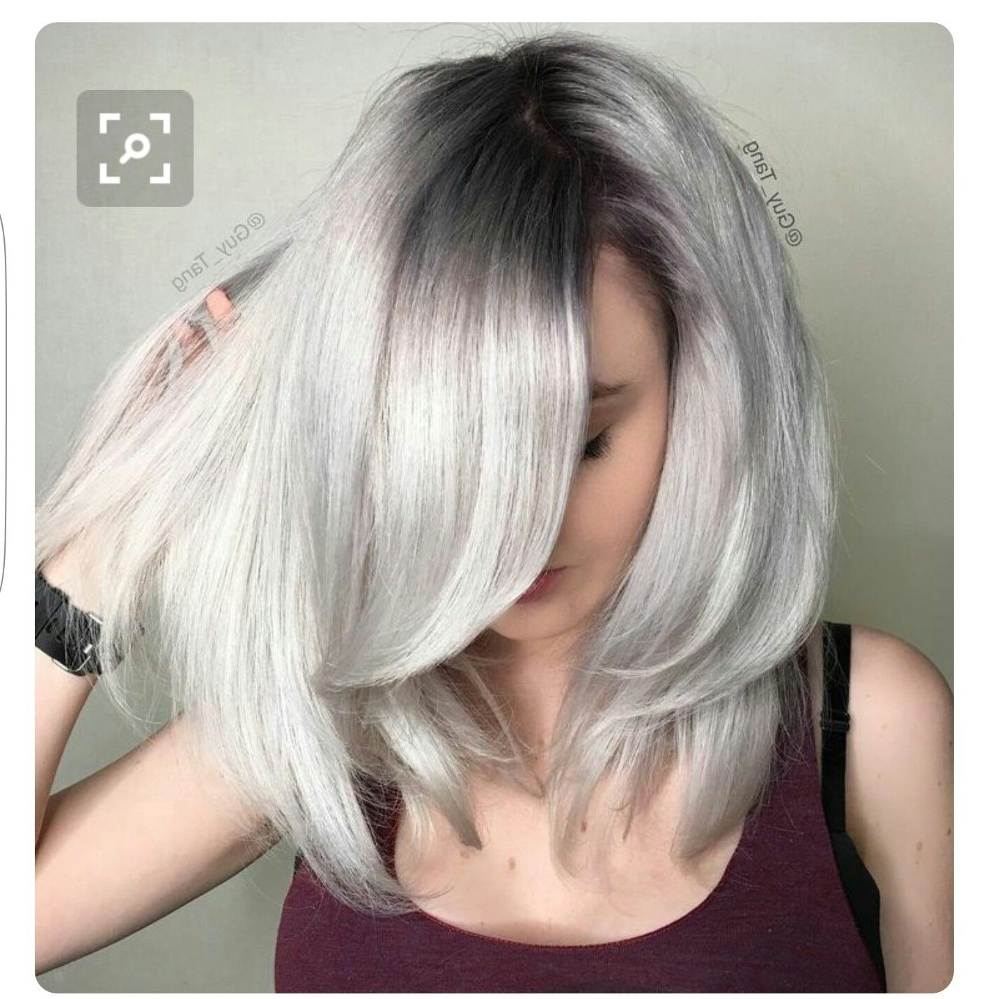 Icy Blonde With Dark Roots … (Gallery 5 of 20)