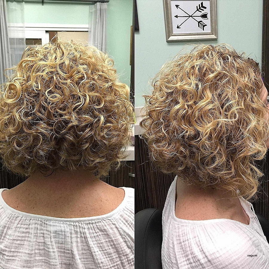 Photo Gallery Of Curly Angled Blonde Bob Hairstyles Viewing 20 Of