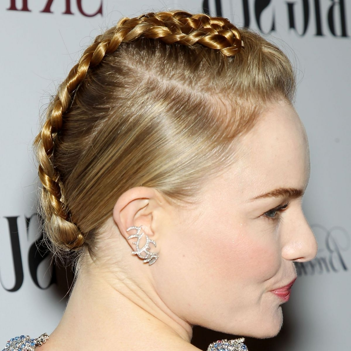 Kate Bosworth's Braided Faux Hawk Tutorial Regarding Widely Used Fauxhawk Ponytail Hairstyles (View 7 of 20)