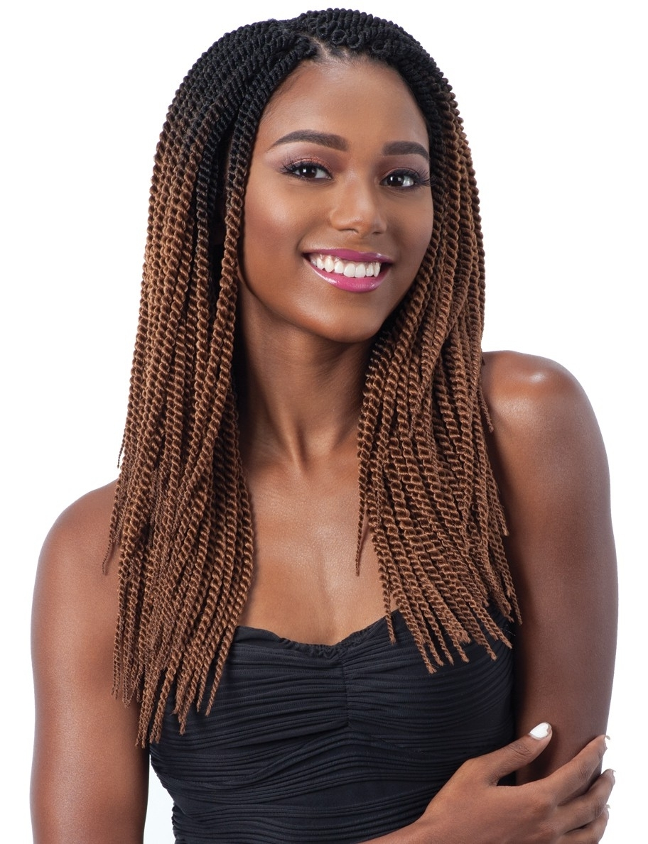 "Large Senegalese Twist 14"" – Freetress Synthetic Crochet Braid Hair Within Preferred Black Layered Senegalese Twists Pony Hairstyles (View 12 of 20)"