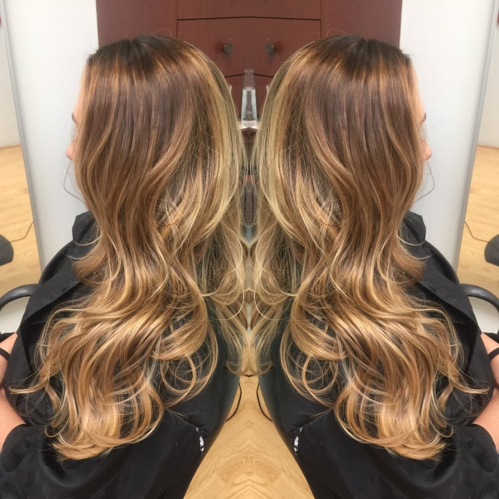 Latest Beige Balayage For Light Brown Hair Throughout Dark Warm Blonde Base With Carmel And Bright Golden Blondeå Balayage (View 7 of 20)