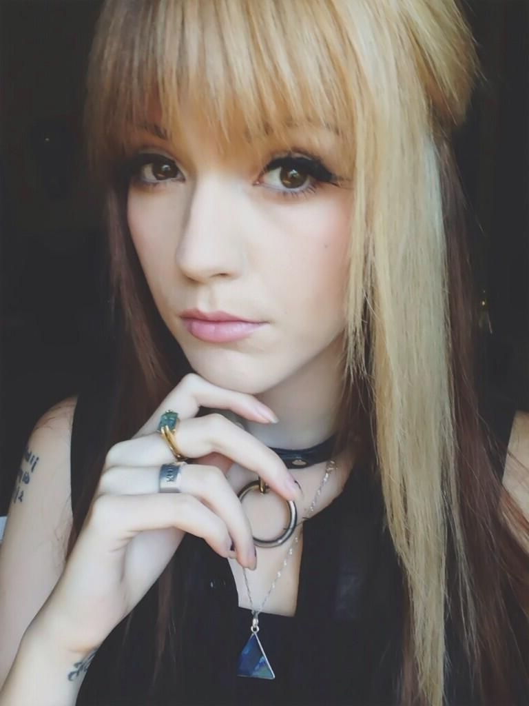 Latest Bi Color Blonde With Bangs Pertaining To Half Blonde Half Brown Hair (View 7 of 20)