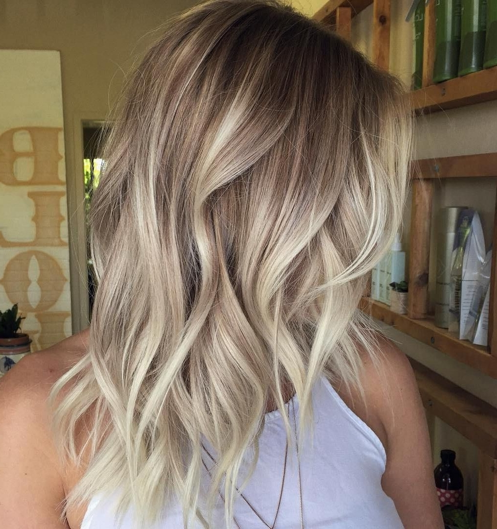 Latest Chamomile Blonde Lob Hairstyles Within Best Balayage Hair Color Ideas: 70 Flattering Styles For (View 3 of 20)