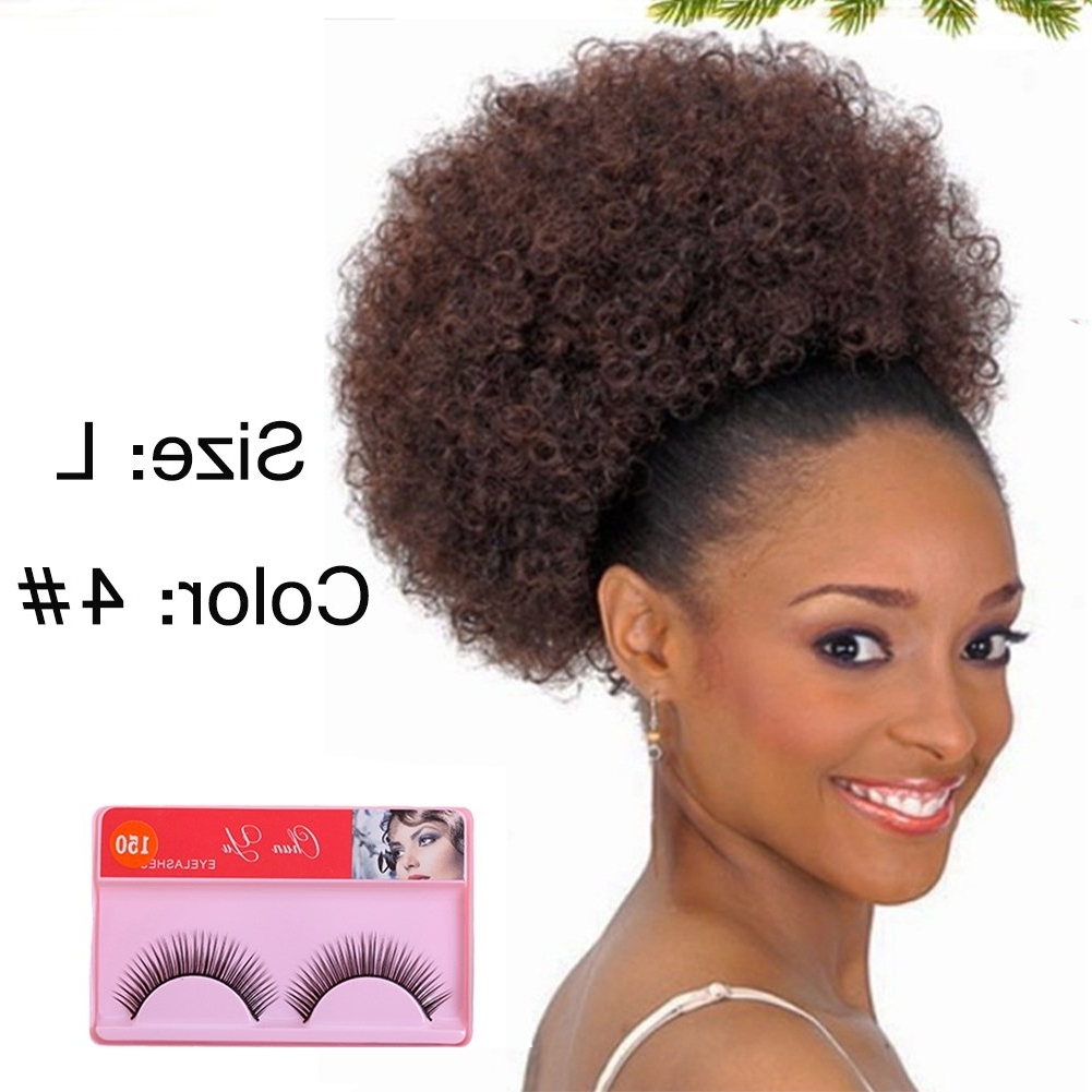 Latest Curly Blonde Afro Puff Ponytail Hairstyles Pertaining To Cheap Afro Puff Wig, Find Afro Puff Wig Deals On Line At Alibaba (Gallery 17 of 20)