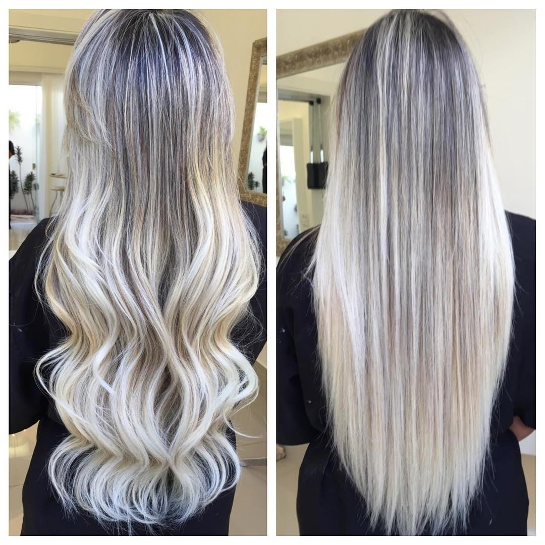 Latest Dark Blonde Hairstyles With Icy Streaks Inside Hair Color : White Blonde Highlights On Dark Hair Short Black Brown (View 11 of 20)