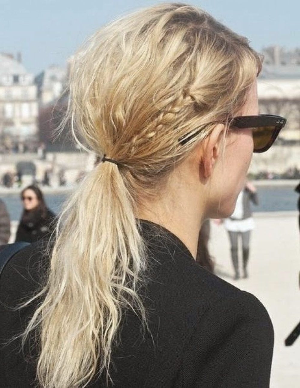 Latest Lustrous Blonde Updo Ponytail Hairstyles Pertaining To Low, Messy, Pony, Bun, Hair, Inspiration, Runway, Backstage, Oracle (View 11 of 20)