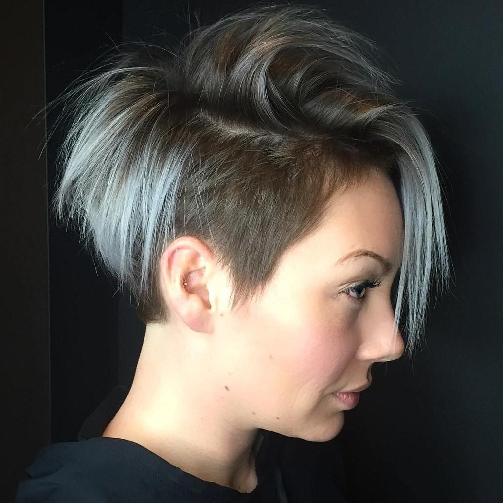 Latest Pixie Bob Hairstyles With Temple Undercut Pertaining To 20 Inspiring Pixie Undercut Hairstyles (View 14 of 20)