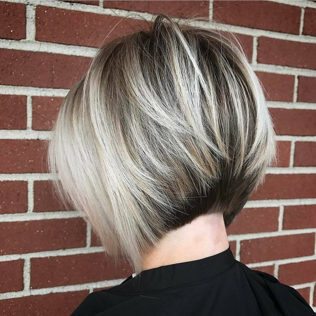 Latest Short Silver Crop Blonde Hairstyles With 10 Layered Bob Hairstyles – Look Fab In New Blonde Shades! – Popular (View 17 of 20)