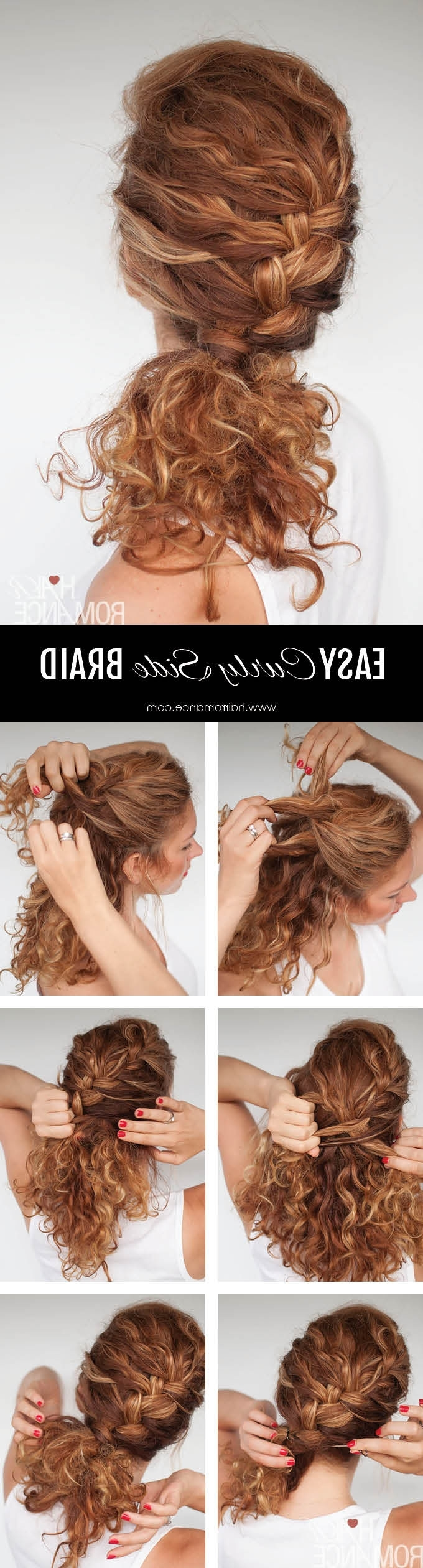 Latest Side Braid Hairstyles For Curly Ponytail With Easy Everyday Curly Hairstyle Tutorials – The Curly Side Braid (View 13 of 20)