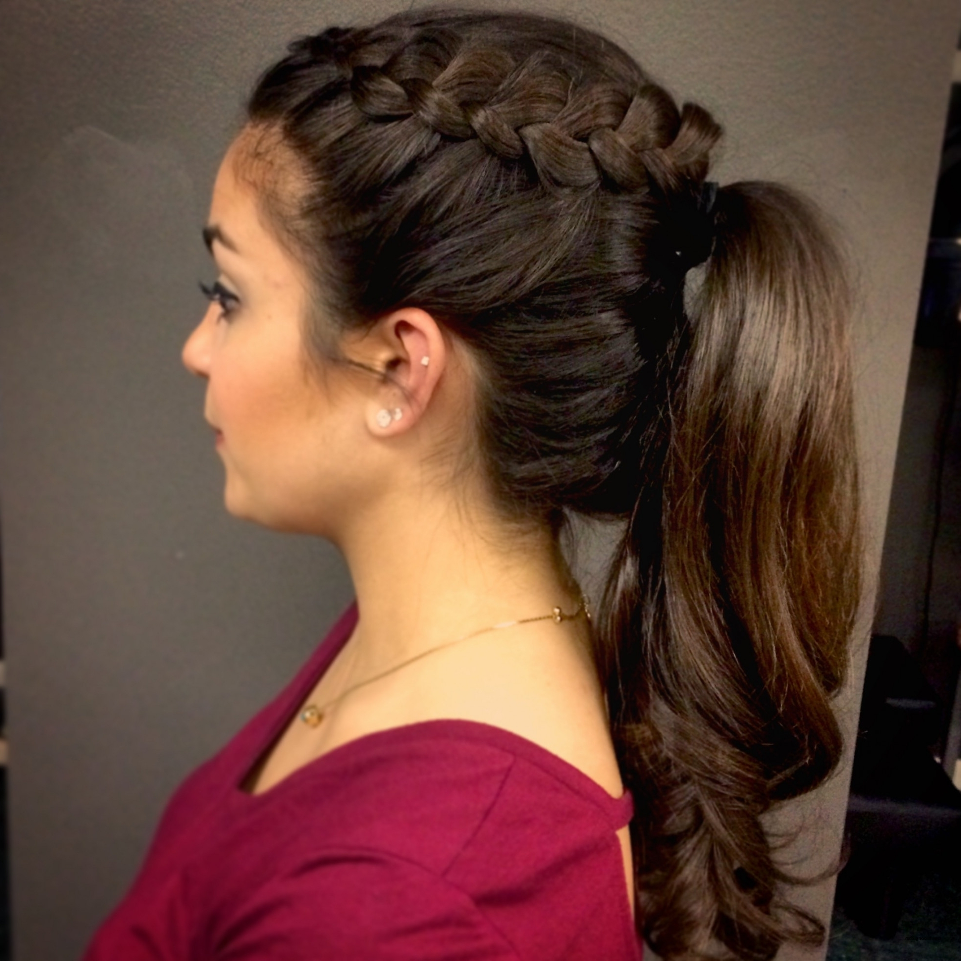 Latest Side Braided Ponytail Hairstyles Inside Formal Hairstyles Side Ponytail With Braid Elegant Prom Ponytail (View 9 of 20)