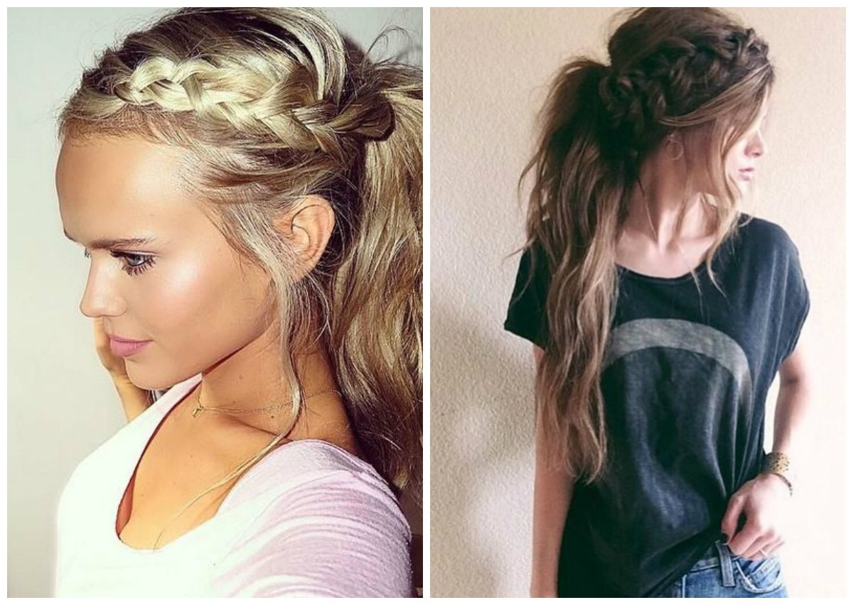 Latest Stylish Low Pony Hairstyles With Bump Within Trendy And Messy Ponytails Hairstyle Trend Of  (View 10 of 20)