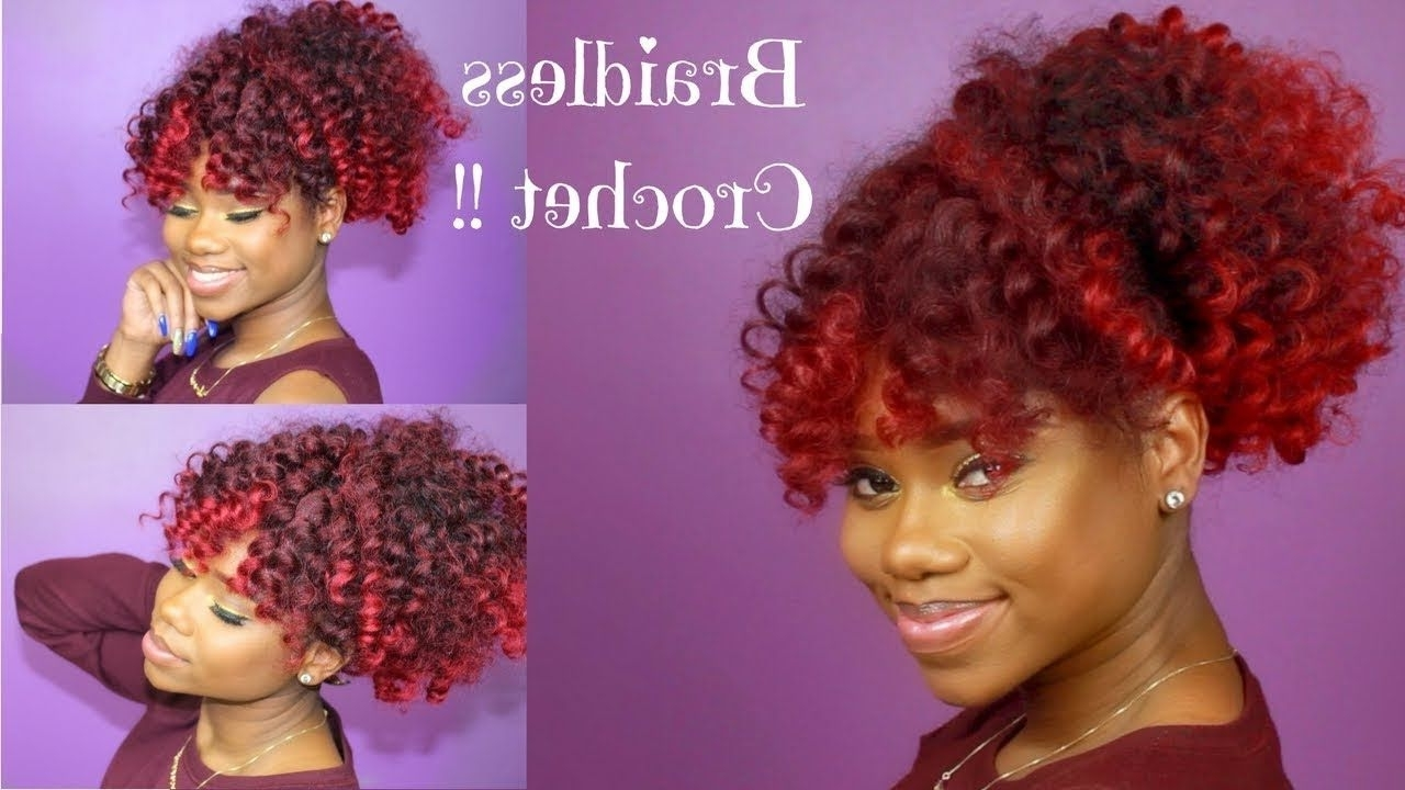 Latest Stylish Supersized Ponytail Hairstyles In Braidless Crochet – High Puff And Curly Bang (Gallery 12 of 20)