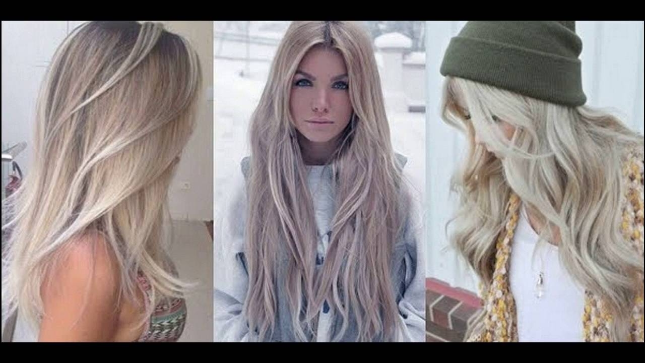 Light Ash Blonde Hair Color Ideas – Youtube Throughout 2018 Pale Blonde Balayage Hairstyles (View 10 of 20)