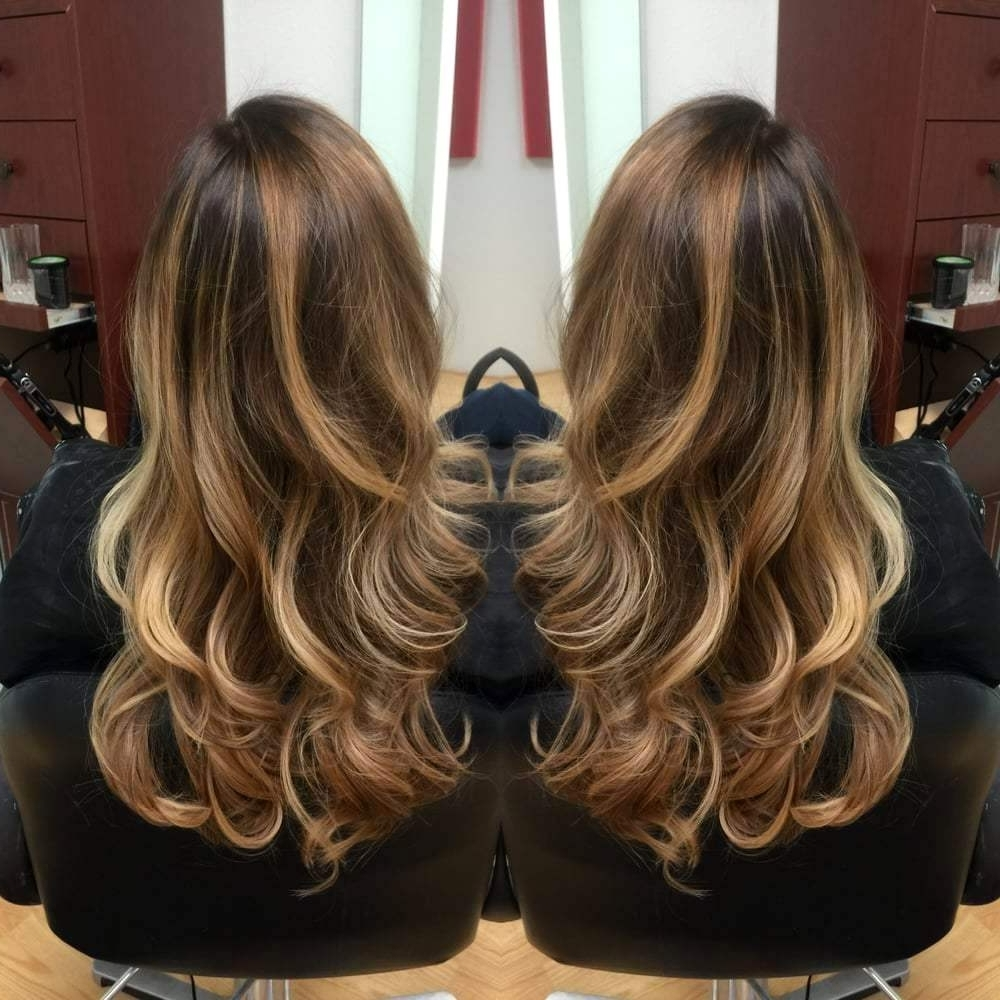 Light Brown Highlights On Black Hair – Amazinghairstyle (View 9 of 20)