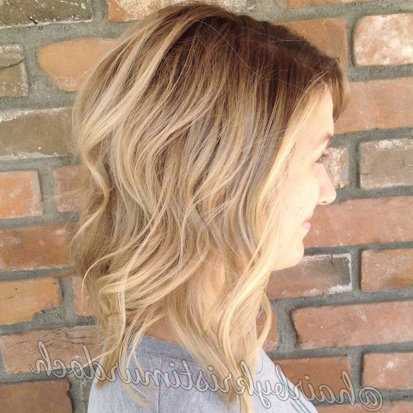 Lob, Long Bob, Angled Bob, Ombré, Sombre, Blonde Sombre, Balayage With Regard To Popular Gently Angled Waves Blonde Hairstyles (View 11 of 20)