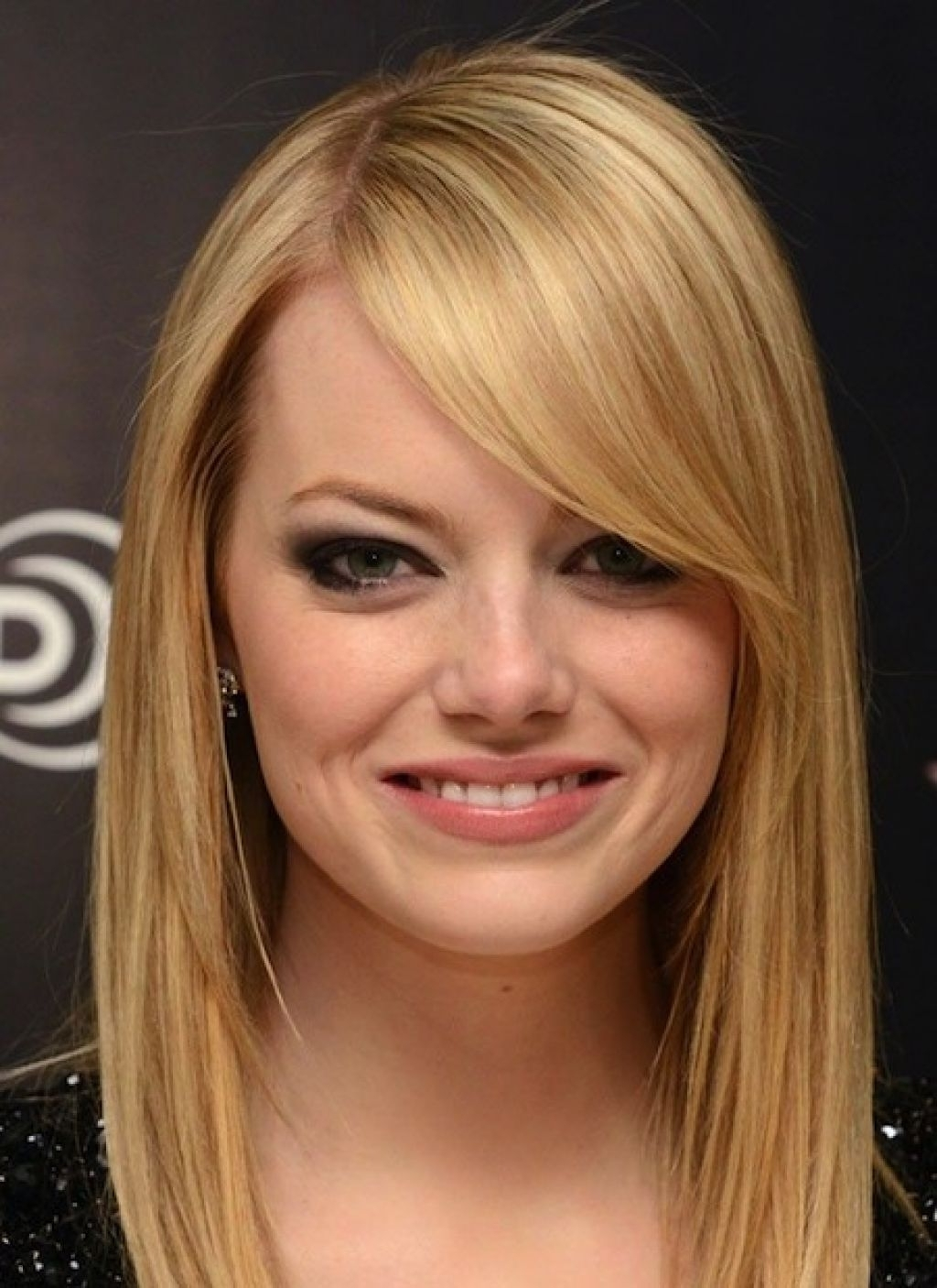 Long Bob Haircut With Layers Straight Blonde Hair Swept Bangs In 2017 Blonde Lob Hairstyles With Sweeping Bangs (View 3 of 20)