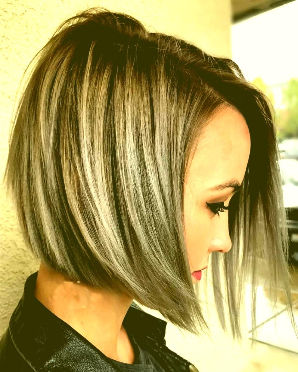 Long Bob Hairstyles With Red Highlights Asymmetrical Short Haircuts Inside Trendy Balayage Pixie Hairstyles With Tiered Layers (View 5 of 20)