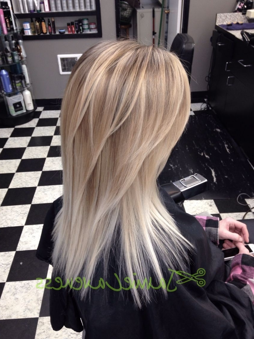 Long Hair Golden Blonde And Bright Blonde Balayage To Ombré Hair Regarding Most Recent Golden Blonde Balayage Hairstyles (View 9 of 20)