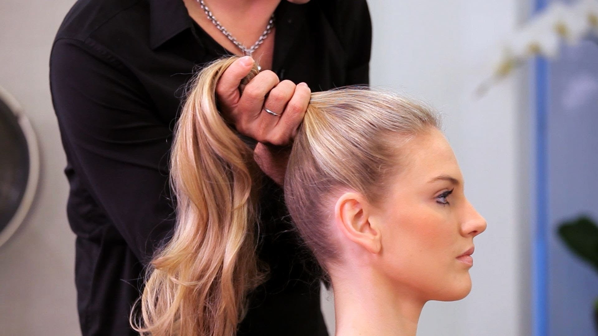 Long Hairstyles – Youtube In Most Popular Neat Ponytail Hairstyles With Voluminous Curls (Gallery 1 of 20)