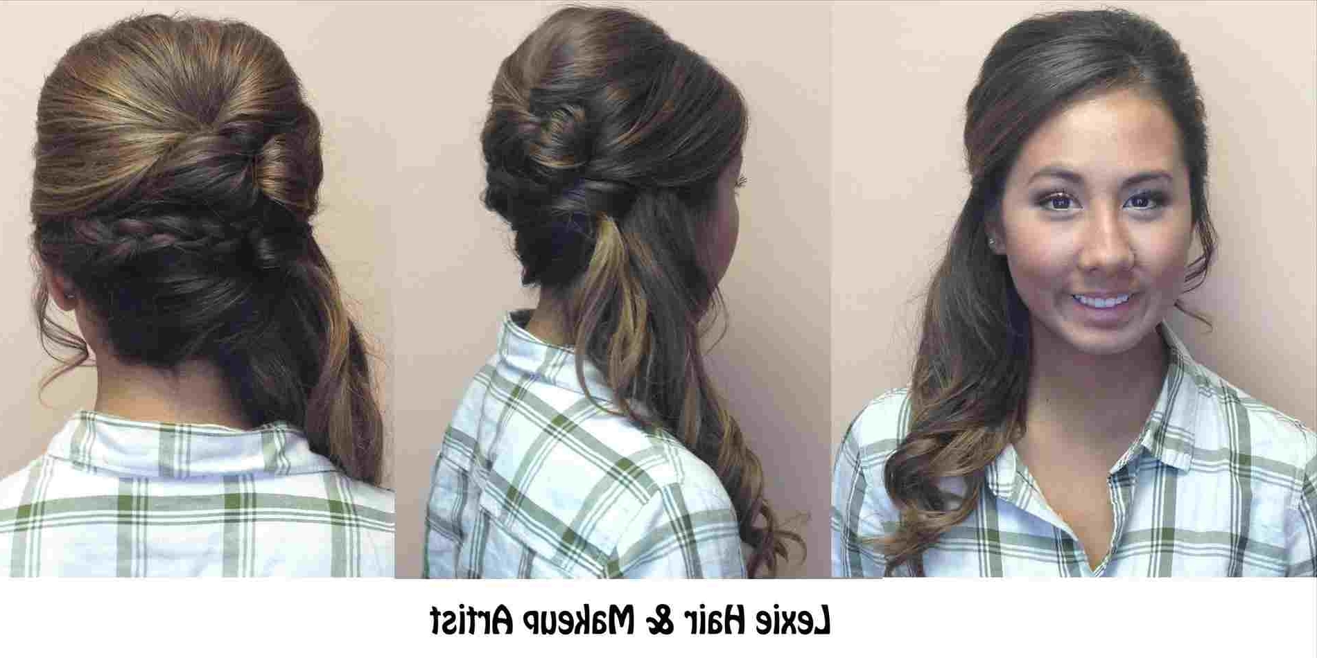 Looks Rhpinterestcom Side Ponytail With Braid And Volume Wedding Intended For Most Current Side Ponytail Hairstyles With Braid (View 9 of 20)