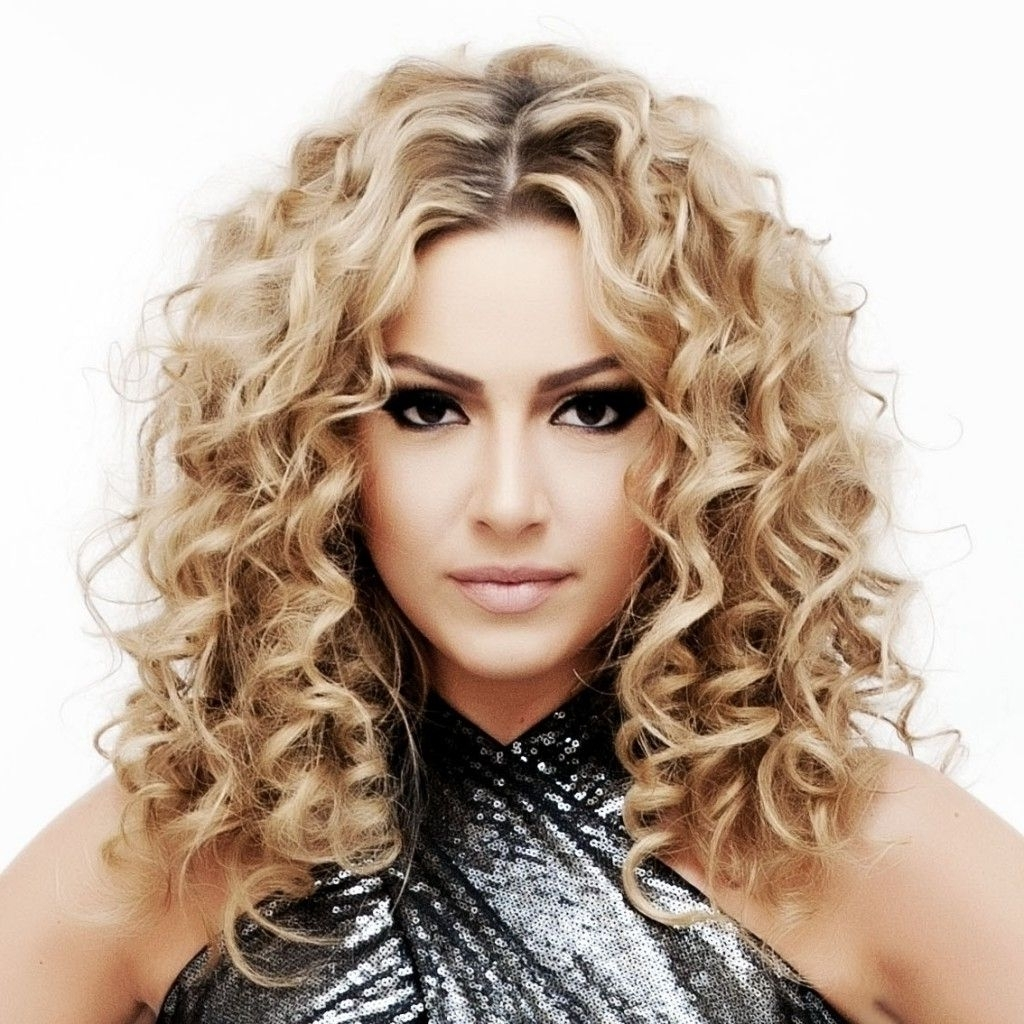 Loose Perm Medium Length Hair Loose Perms For Medium Length Hair Inside Widely Used Medium Blonde Bob With Spiral Curls (View 10 of 20)