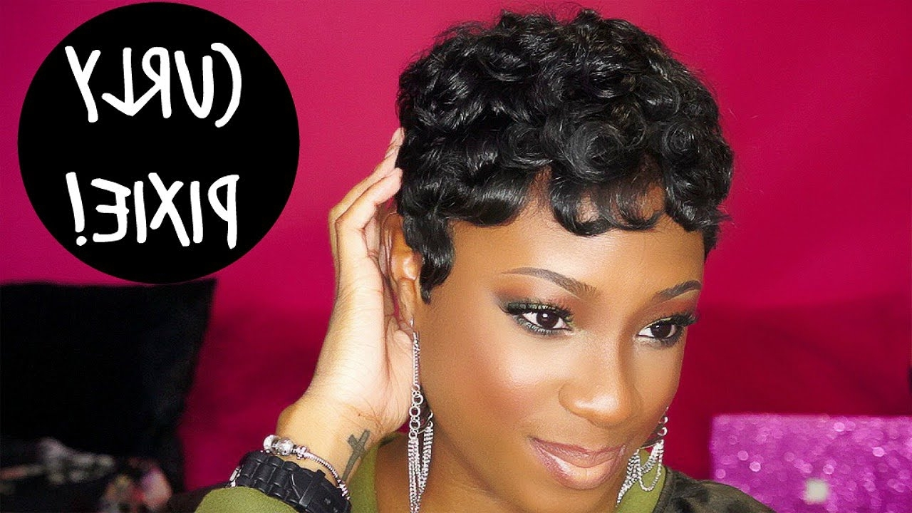Lorissa Turner – Youtube Throughout Most Current Short Black Pixie Hairstyles For Curly Hair (View 5 of 20)