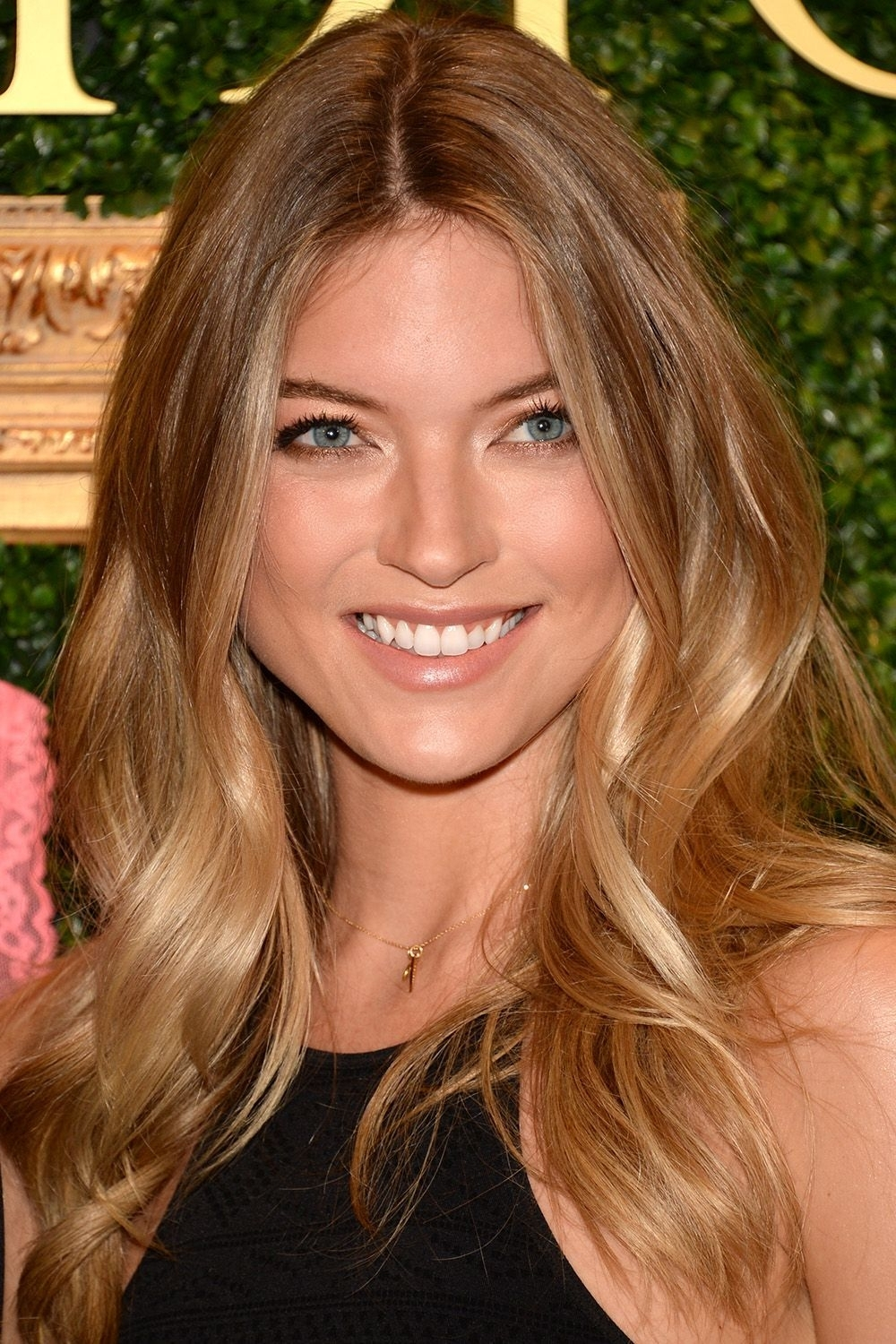 Martha Hunt, Beach Waves And Regarding Best And Newest Honey Hued Beach Waves Blonde Hairstyles (View 11 of 20)