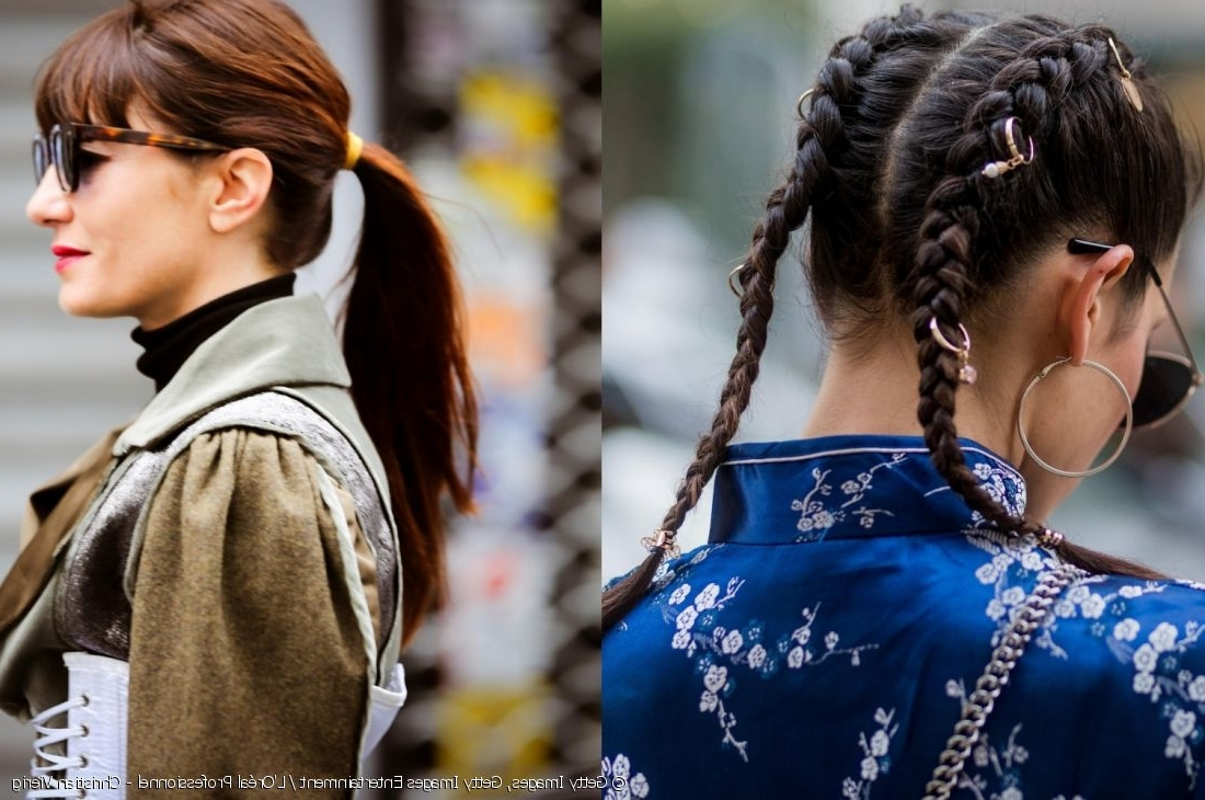 Match The Look School Style Classics: Plaits Vs Ponytail Regarding Fashionable Accessorize Curled Look Ponytail Hairstyles With Bangs (View 13 of 20)