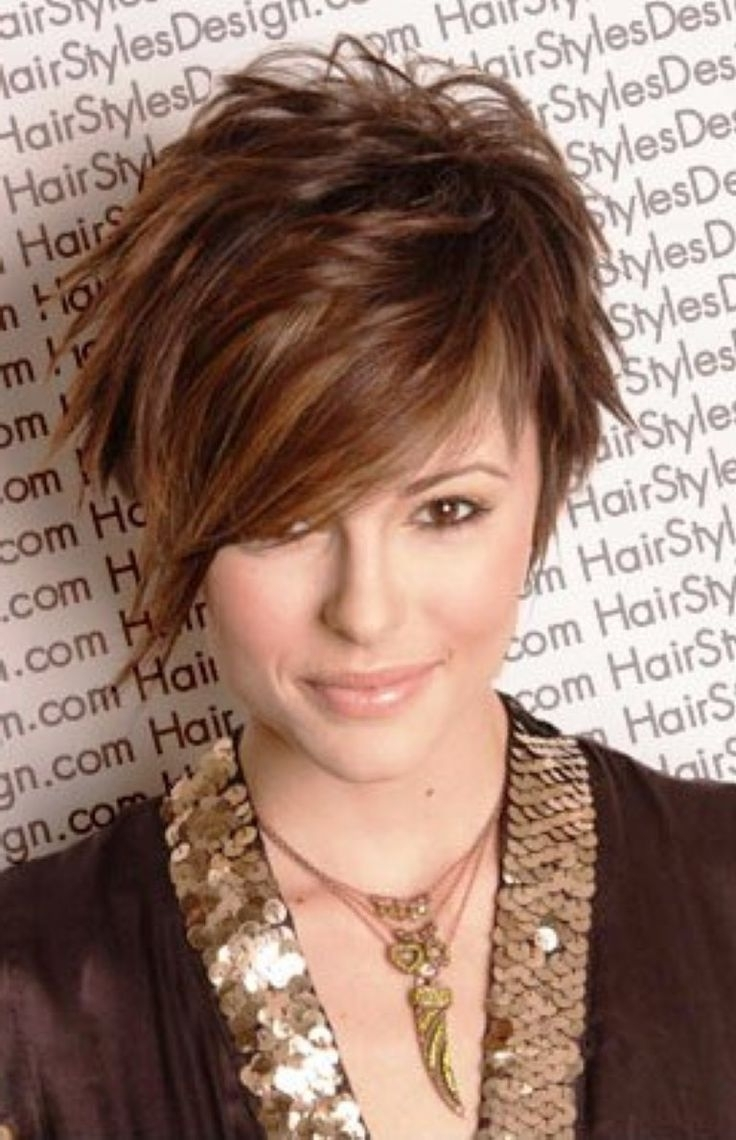 Featured Photo of Asymmetrical Long Pixie Hairstyles For Round Faces
