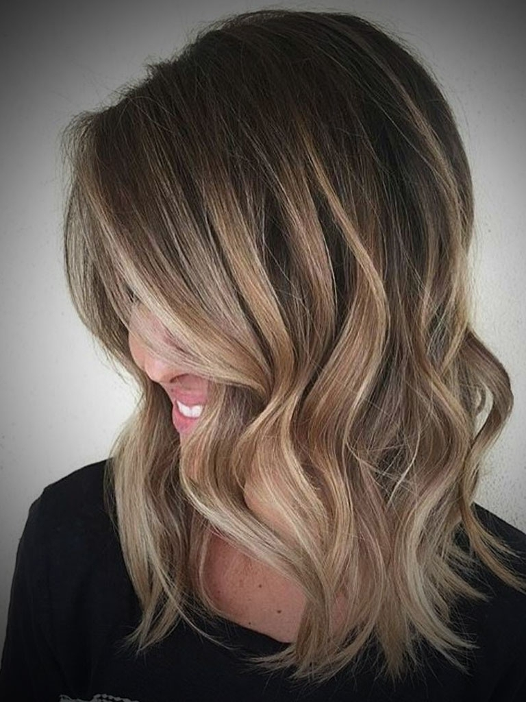 Medium Hair With Blonde Ombre Length Blonde Ombre Hair Ombre Hair For Trendy Shoulder Length Ombre Blonde Hairstyles (View 10 of 20)
