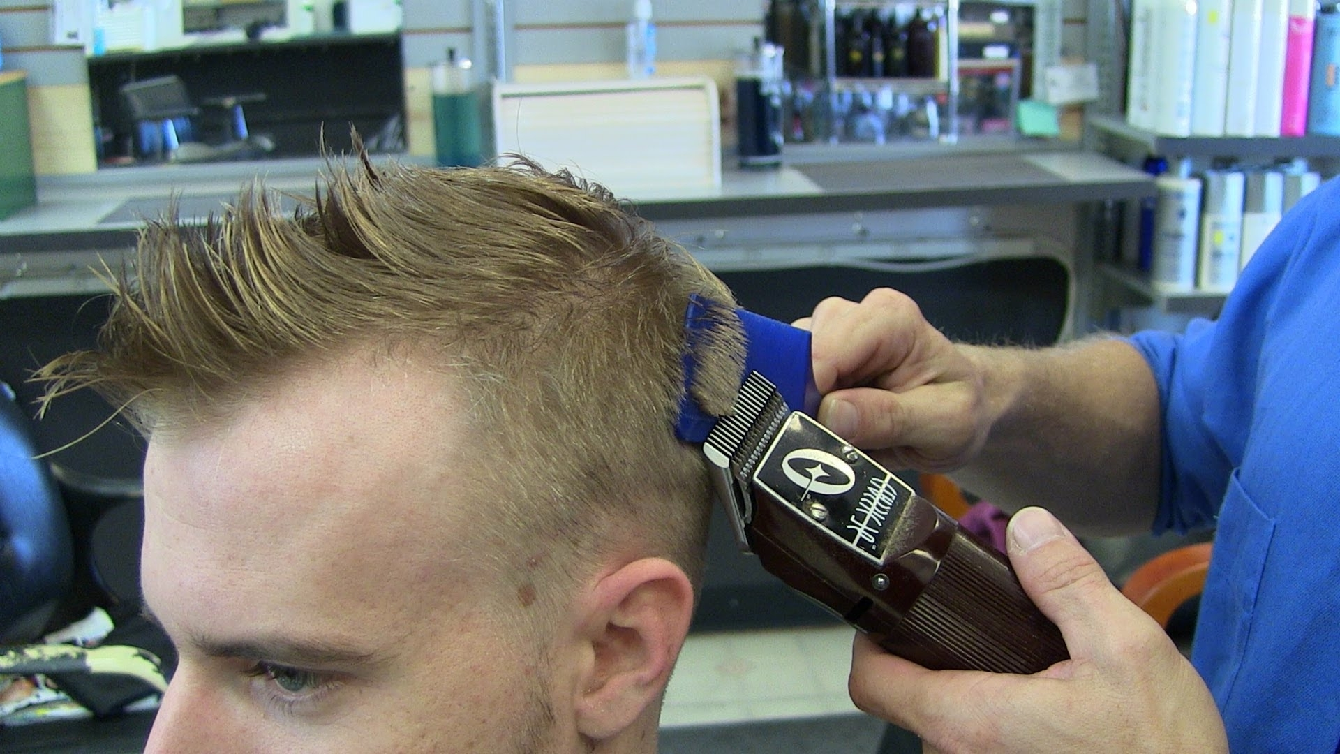 Men's Blonde Fade Haircut / Mens Hairstyle – Youtube For Latest Fade To White Blonde Hairstyles (View 3 of 20)
