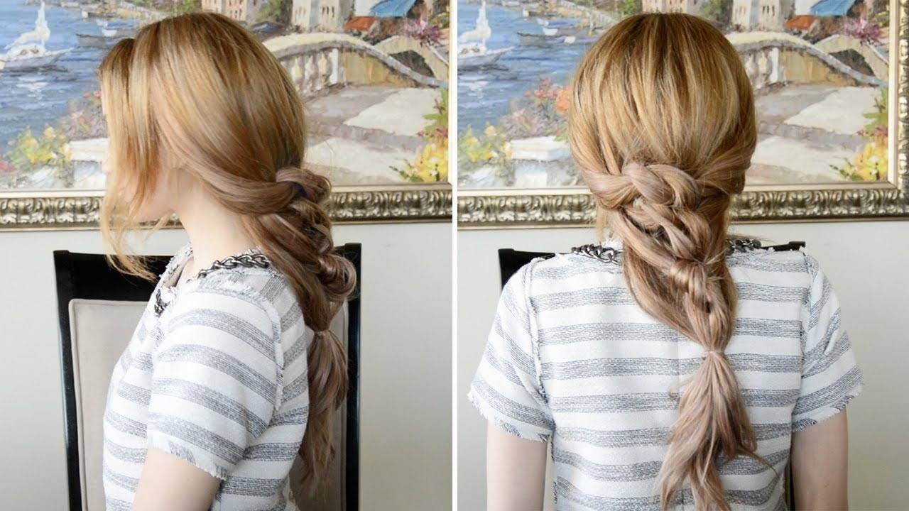 Messy Chunky Knotted Ponytail Hairstyle (View 4 of 20)
