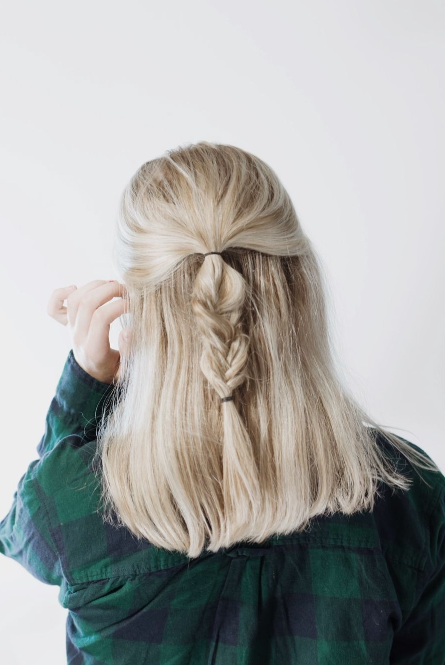 Messy Fishtail Braid #fishtail #braid #amberfillerup #blonde Within Latest Honey Blonde Fishtail Look Ponytail Hairstyles (View 10 of 20)