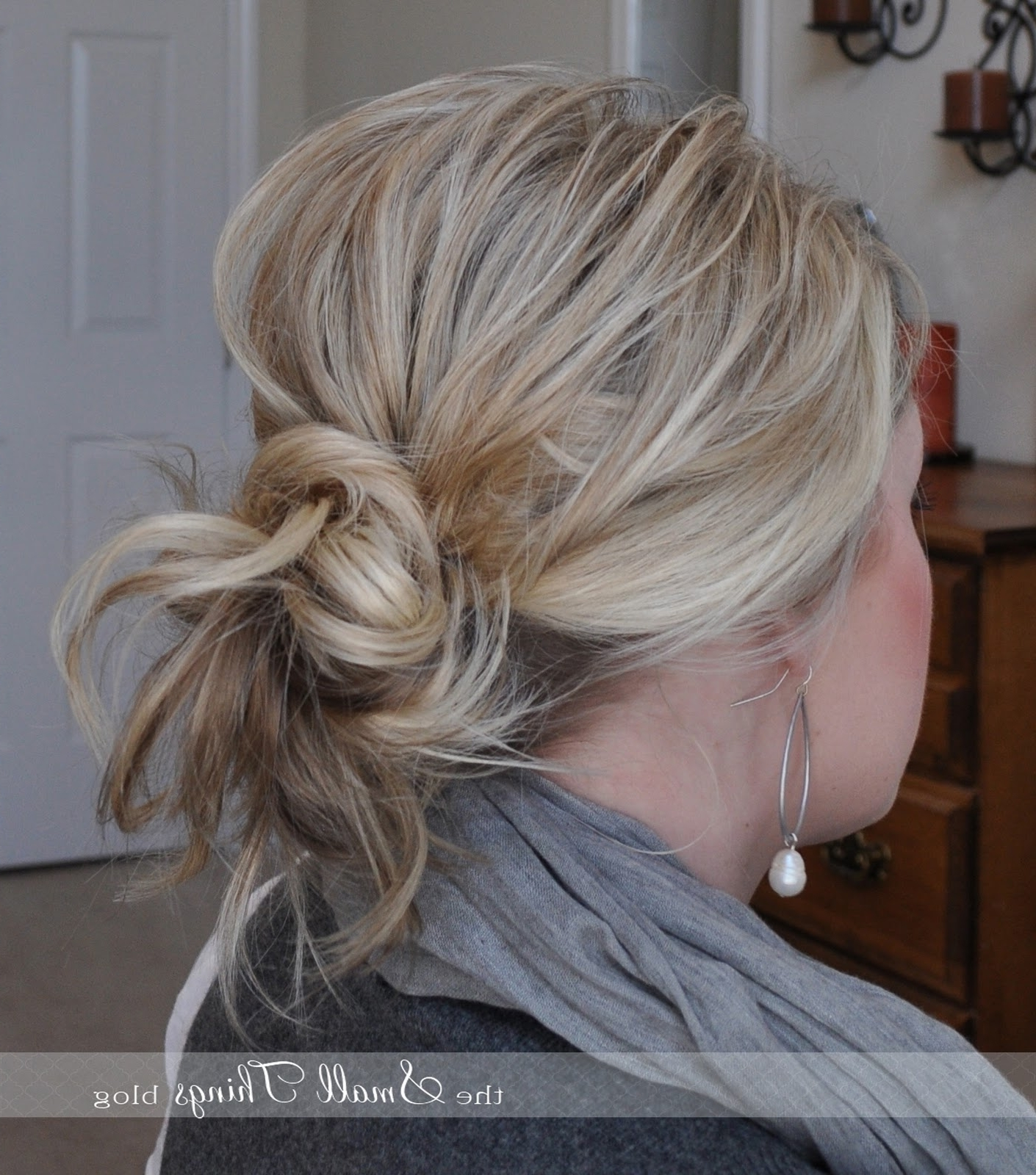 Messy Ponytail/bun – The Small Things Blog In 2017 Curled Up Messy Ponytail Hairstyles (View 12 of 20)