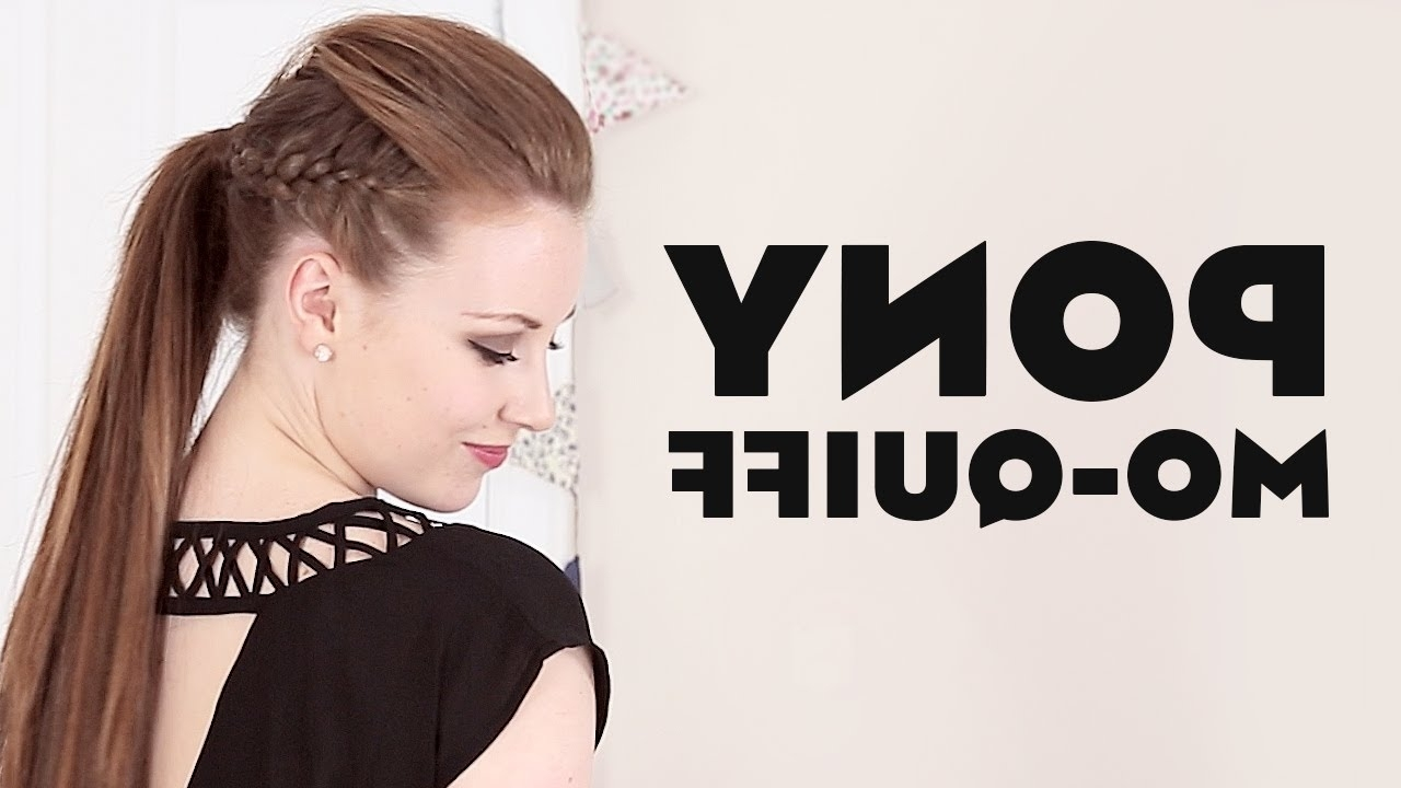 Mini Quiff Mohawk Ponytail Hair Tutorial – Youtube Pertaining To Famous Punky Ponytail Hairstyles (View 10 of 20)
