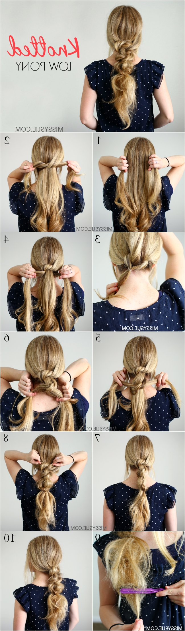 Featured Photo of Braided And Knotted Ponytail Hairstyles