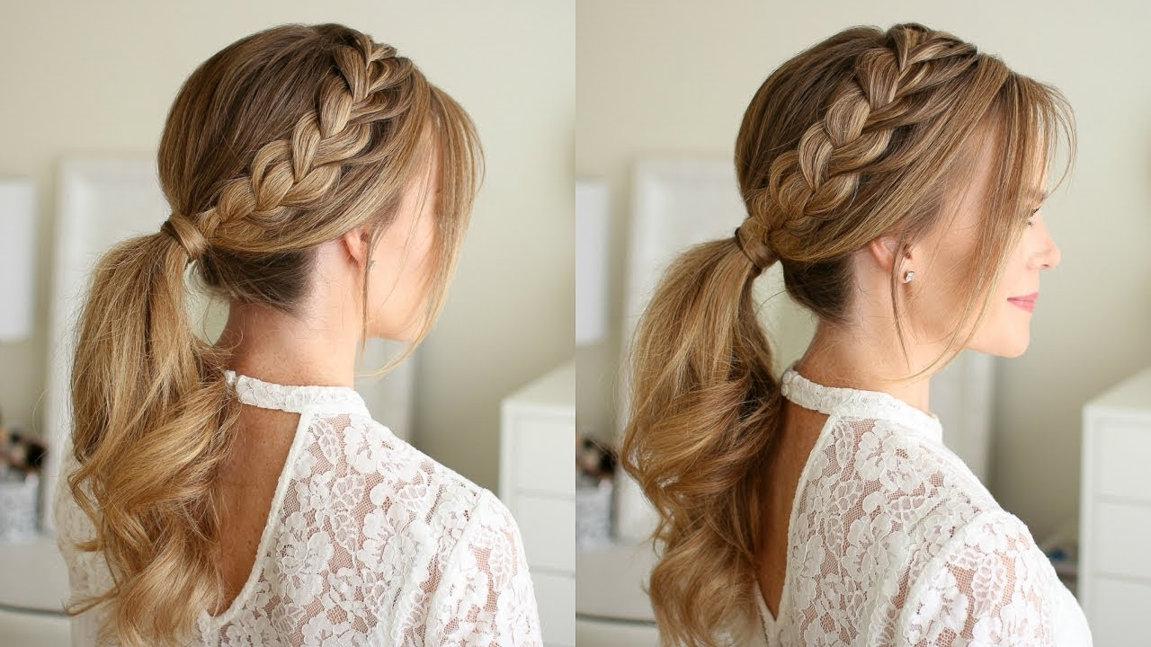 Featured Photo of Ponytail And Lacy Braid Hairstyles