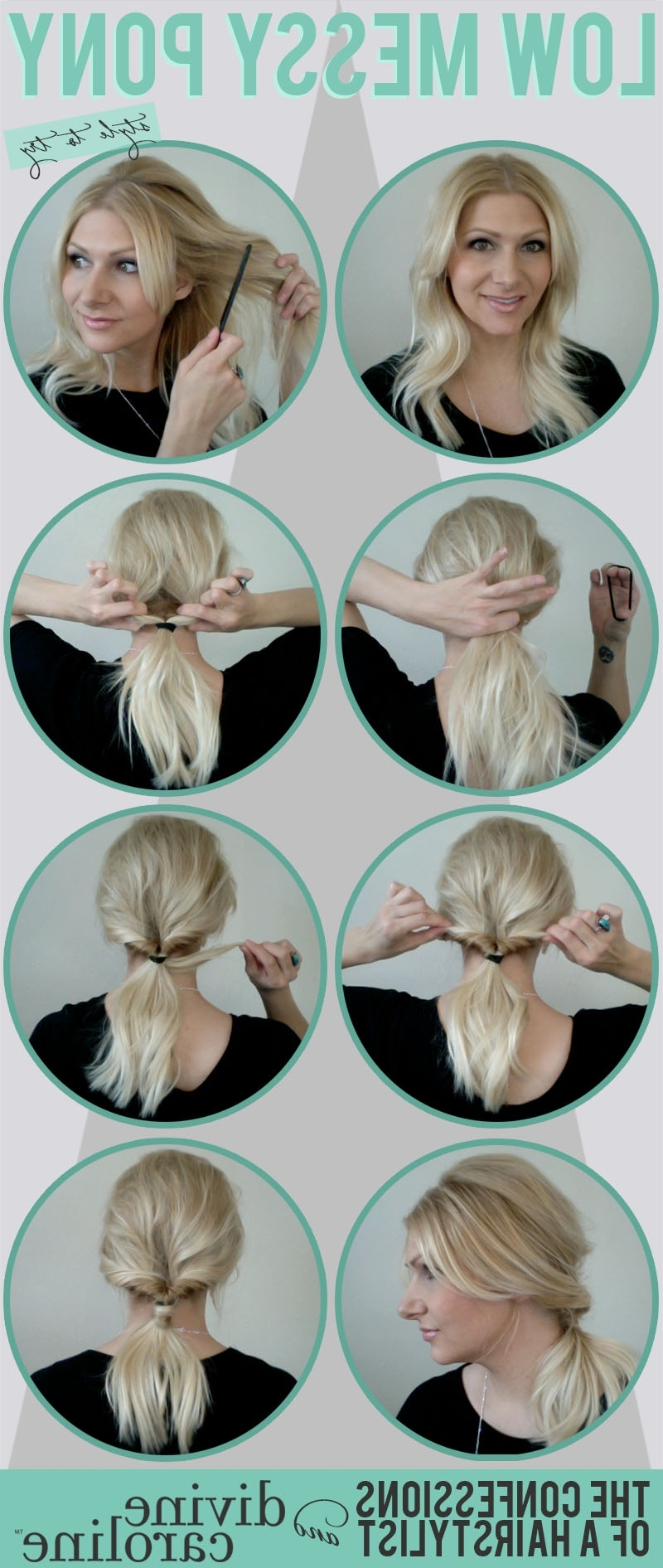 More Intended For 2017 Curled Up Messy Ponytail Hairstyles (View 13 of 20)