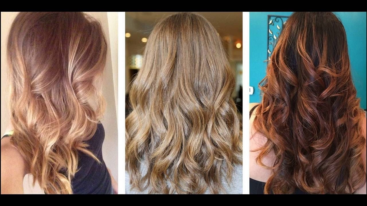 Most Current Beachy Waves Hairstyles With Blonde Highlights Pertaining To Beach Brown And Caramel Hair Colour Best Suits For Women With Black (View 15 of 20)