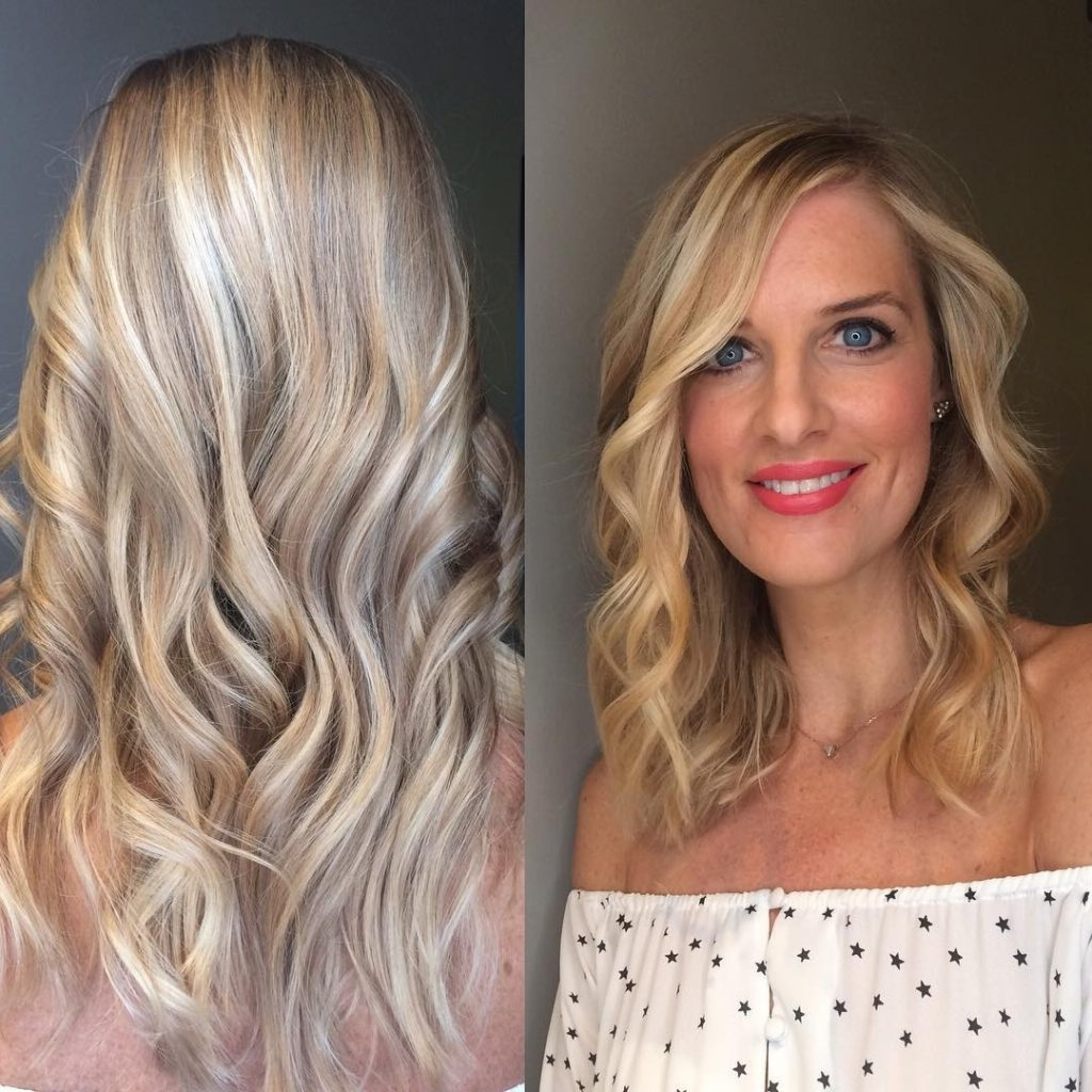 Most Current Blonde Color Melt Hairstyles Throughout Women's Soft Wavy Textured Cut With Short Layers And Blonde (View 13 of 20)