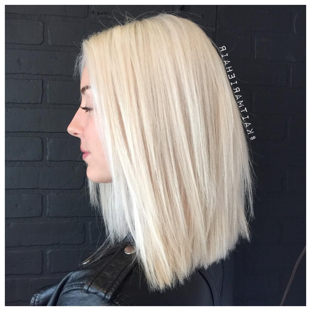 "Most Current Blunt Cut White Gold Lob Blonde Hairstyles With Regard To This Is The Light Blonde I Need To Achieve Before Pastels ""My Snow (View 16 of 20)"