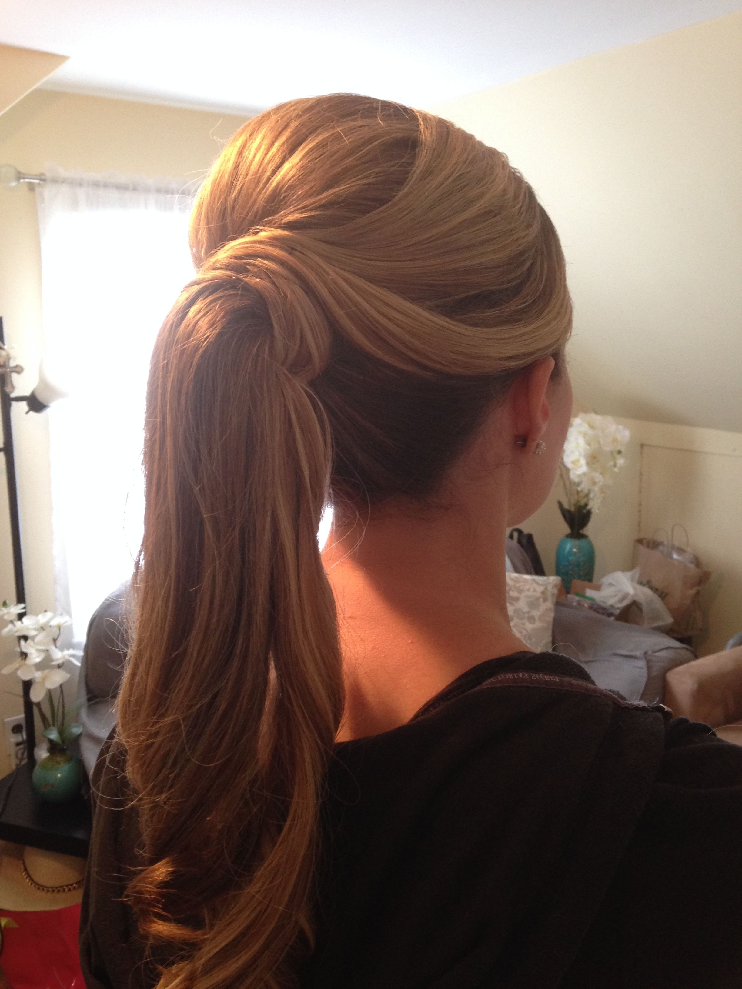 Most Current Fabulous Bridal Pony Hairstyles Within Fancy Ponytail Hairstyles Aka The Barbie Ponytail (View 4 of 20)
